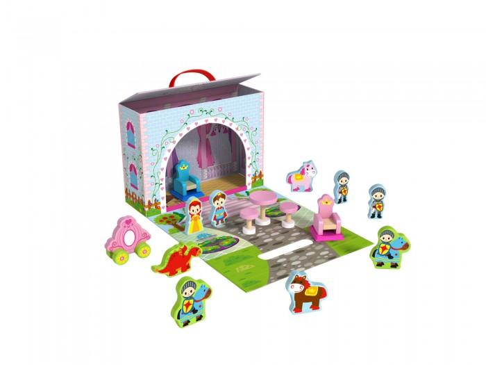 Деревянная игрушка Tooky Toy Чемоданчик Замок принцессы