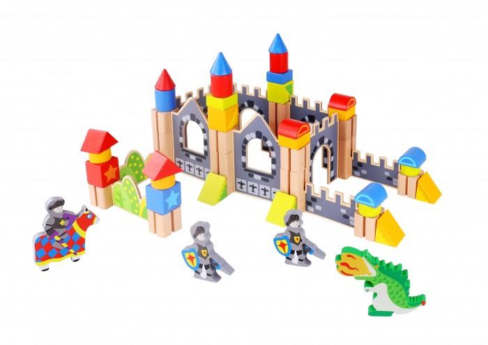 Деревянная игрушка Tooky Toy Кубики Замок принца