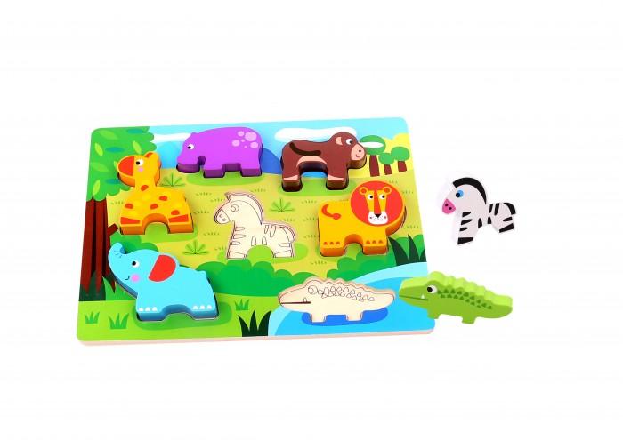 Деревянные игрушки Tooky Toy Пазл Животные