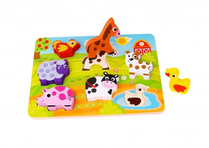 Деревянные игрушки Tooky Toy Пазл Ферма TKC479