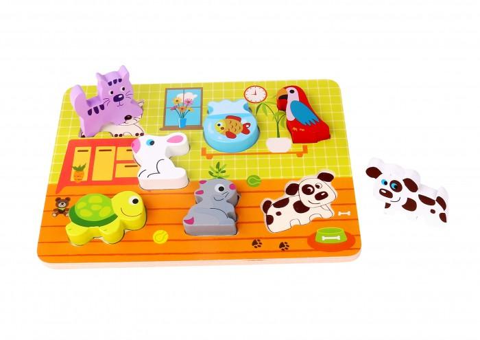 Деревянные игрушки Tooky Toy Пазл Питомцы