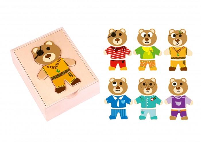 Деревянные игрушки Tooky Toy Настольная игра Собери мишку спортивный инвентарь tooky toy игра кольца