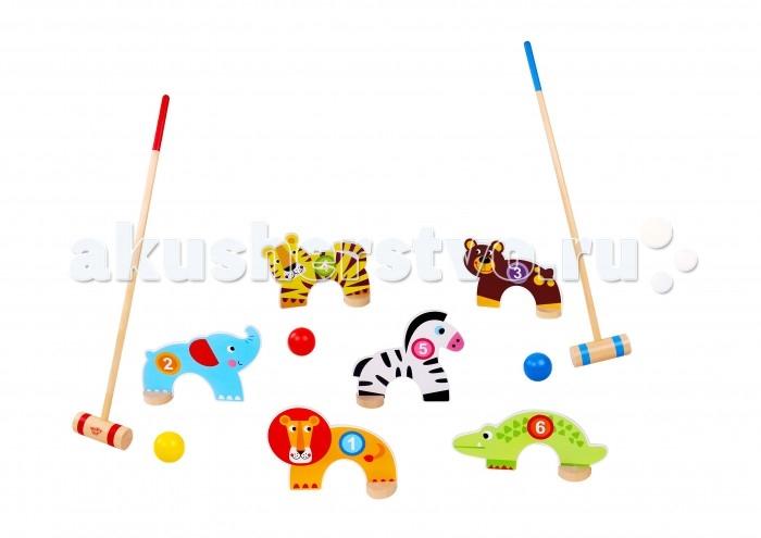 Спортивный инвентарь Tooky Toy Детская игра Крокет Джунгли спортивный инвентарь tooky toy игра кольца