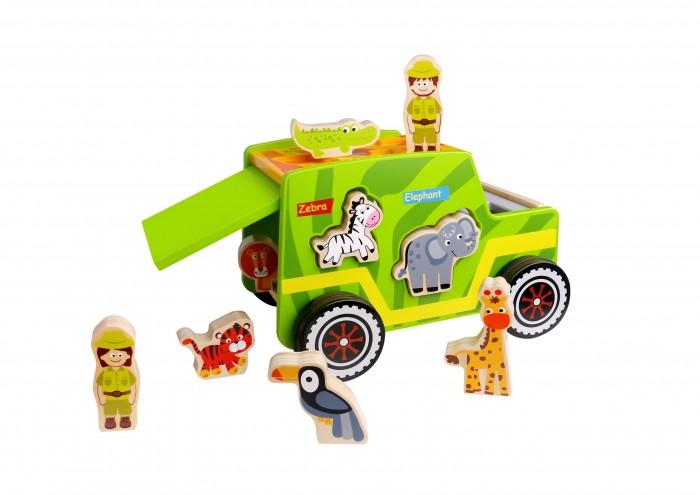 Деревянная игрушка Tooky Toy Джип Сафари