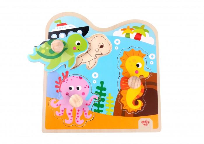 Деревянные игрушки Tooky Toy Пазл Морские обитатели деревянные игрушки viga пазл морские обитатели