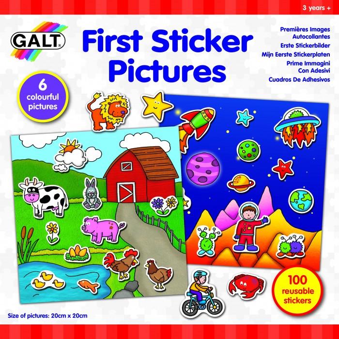 Фото - Детские наклейки Galt Многоразовые стикеры Первые стикеры стикеры для стен melestore mqt410