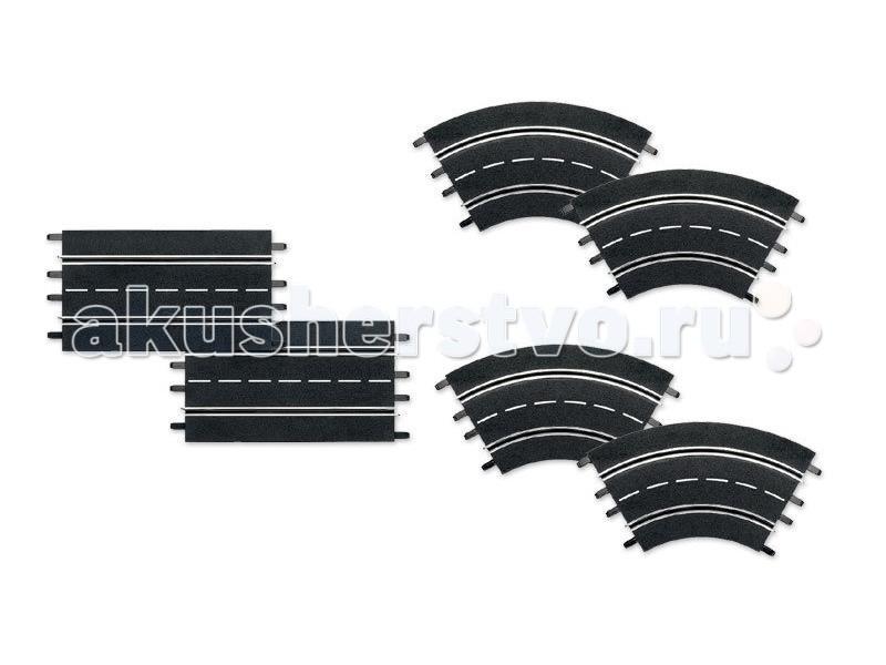 Машины Carrera Набор дополнений к треку 2 прямые, 4 поворота 1/30° Evolution/DIG132/DIG124 plug 6 35 rca jack connector 8pcs mono male plug 6 35 to female jack rca adapter audio video wire connector plug 6 35 to rca