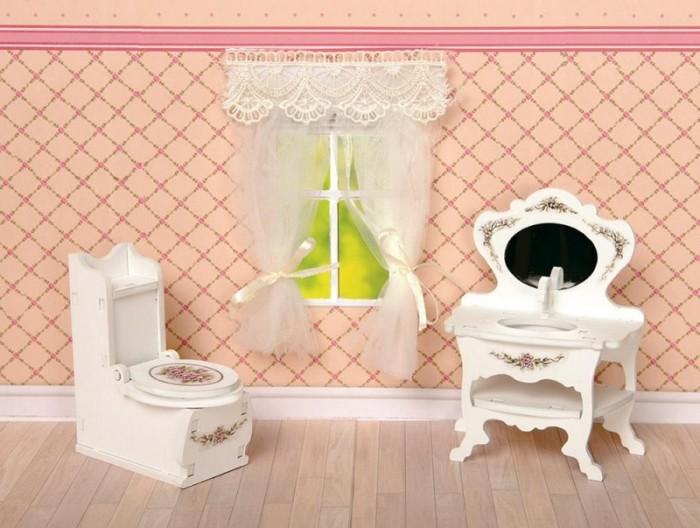 Кукольные домики и мебель ЯиГрушка Набор Туалетная комната коллекция Прованс