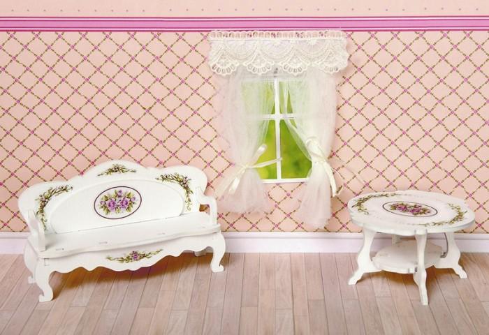 Кукольные домики и мебель ЯиГрушка Набор Гостиная коллекция Прованс