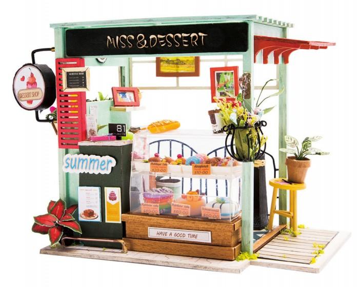 Сборные модели Diy House Интерьерный для творчества Магазин мороженого румбокс интерьерный конструктор diy mini house музыкальная комната