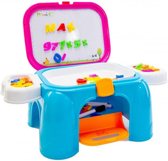 Доски и мольберты Bradex Обучающий столик-табурет Скоро в школу 3 в 1 цветной тм столик на двоих в портофино