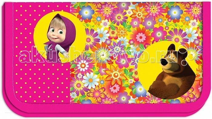 Пеналы Маша и Медведь Пенал Цветочная поляна 22111 браслет и заколки резинки из мультика маша медведь интернет магазин