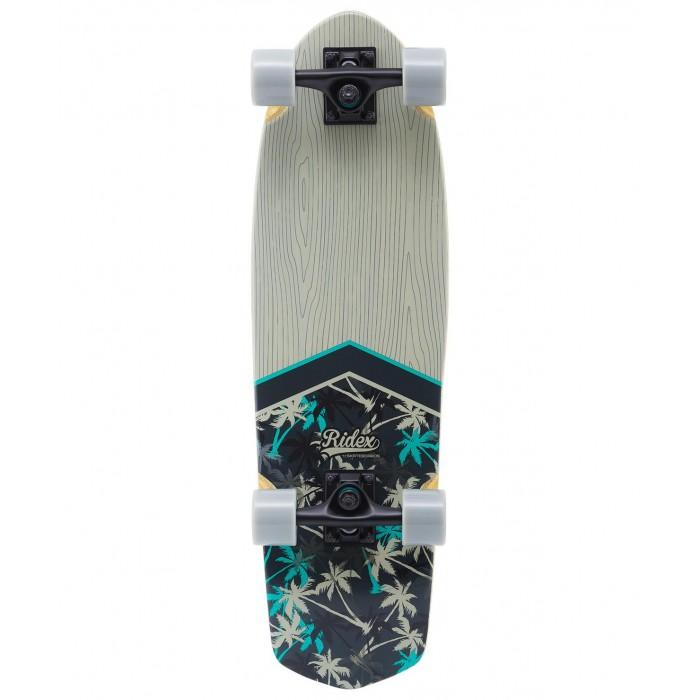 Детский транспорт , Скейтборды Ridex Круизер деревянный Tropic 28.5х8.25 Abec-5 арт: 570146 -  Скейтборды