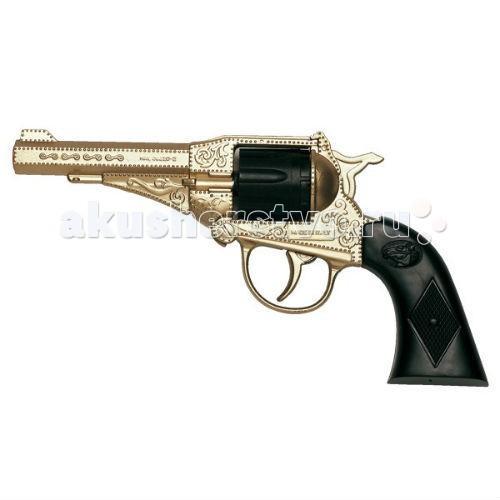 Игрушечное оружие Edison Игрушечный Пистолет Орегон золотой 21,5 см edison игрушечный пистолет с пистонами eaglematic серия soft touch 17 5 см