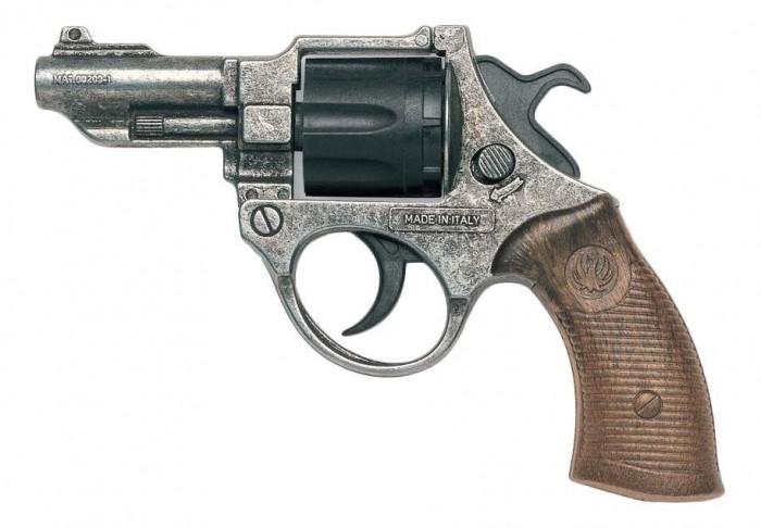 Игрушечное оружие Edison Игрушечный Пистолет FBI Federal Metall Police 12,5 пистолет edison giocattoli dakota metall western