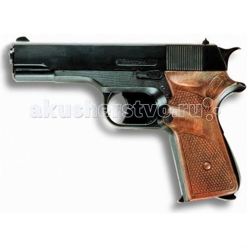 Edison Игрушечный Пистолет Ягуарматик 16,5 смИгрушечный Пистолет Ягуарматик 16,5 смEdison Игрушечный Пистолет Ягуарматик 16,5 см - 13-зарядный игровой пистонный пистолет Jaguarmatic — прекрасный выбор для тех детей, которые регулярно играют в войну, проводят полицейские захваты или спасают мир от террористов. Игровой пистолет стреляет пистонами, поэтому игрушка достаточно безопасна и подходит всем, кому уже исполнилось 7 лет.  Компания Edison Giocattoli производит игрушки только на итальянских заводах, поэтому игрушечные пистолеты с пульками, мишени и другие игрушки Edison Giocattoli отличаются красотой, стилем, высоким качеством и долговечностью.  Продукция этого производителя соответствует всем нормам безопасности и качества.  До эксплуатации игрушки изучите меры безопасности по обращению с ней.  Ёмкость магазина: 13 пистонов  В поставку входит: игрушечный пистолет  Длина пистолета: 16,5 см<br>