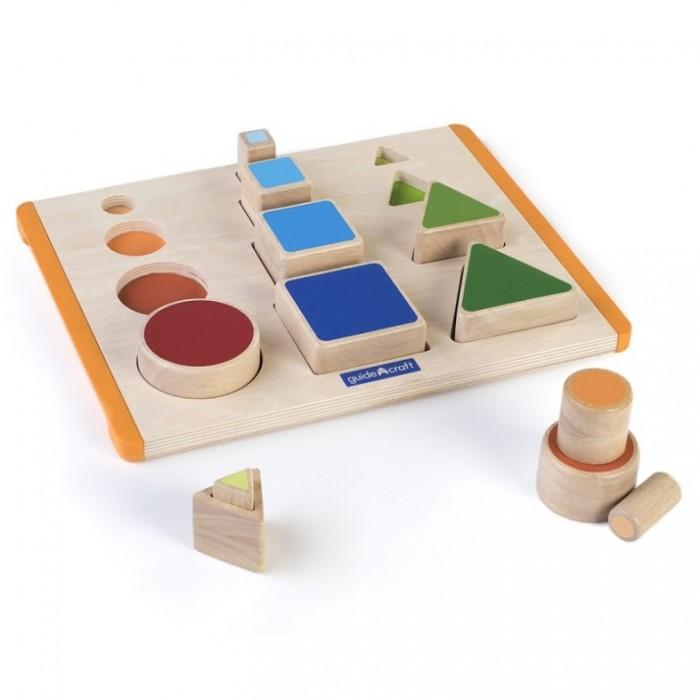 Деревянная игрушка Guidecraft Сортер пирамидка Nest and Stack Shapes Действия с формами