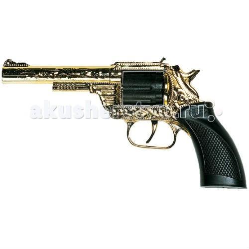 Игрушечное оружие Edison Игрушечный Пистолет Дакота/Dakota Metall Gold Western 19,8 см игрушечное оружие sohni wicke пистолет texas rapido 8 зарядные gun western 214mm