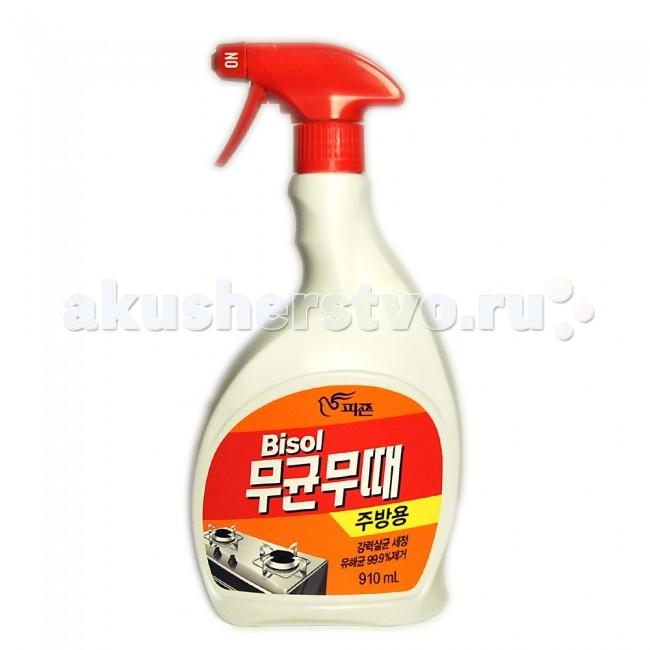 Бытовая химия Pigeon Чистящее средство для кухни Bisol (спрей) 910 мл кислотные красители в алматы