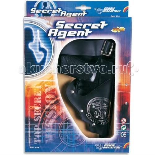 Игрушечное оружие Edison Игрушечный Набор секретного агента с игрушечным пистолетом, кобурой и ремнем Secret Agent-Set edison игрушечный набор с пистолетом мишенями и пульками target line santa f