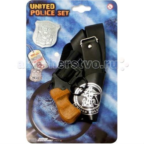 Edison Игрушечный Набор полицейского Polizei United Police-Set блистер