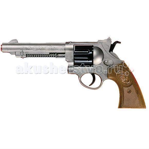 Edison Игрушечный Пистолет с мишенями и пульками Western-Line West Colt 28 смИгрушечный Пистолет с мишенями и пульками Western-Line West Colt 28 смEdison Игрушечный Пистолет с мишенями и пульками Western-Line West Colt 28 см - это игровое оружие, с которым не стоит шутить. 28-сантиметровый кольт можно пускать в ход только в самых опасных переделках. Пистолет стреляет небольшими пульками и отлично подходит для стрельбы по мишеням.  Игрушечные пистолеты и мишени итальянской компании Edison Giocattoli — отличное детское оружие для ролевых и активных игр.  Все игрушки компании выполнены из безопасных и качественных материалов.  До эксплуатации игрушки изучите меры предосторожности при обращении с ней.  Ёмкость магазина: 8 пулек  В комплекте: игрушечный пистолет, мишени, пульки.  Длина пистолета: 28 см<br>