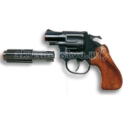 Игрушечное оружие Edison Игрушечный Пистолет с глушителем Випер 20,3 см edison игрушечный пистолет с пистонами eaglematic серия soft touch 17 5 см