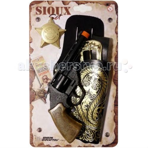 Edison Игрушечный Набор с пистолетом кобурой и ремнем Sioux-Set