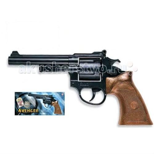 Игрушечное оружие Edison Игрушечный Пистолет Avenger Polizei 21,5 см пистолет edison giocattoli dakota metall western