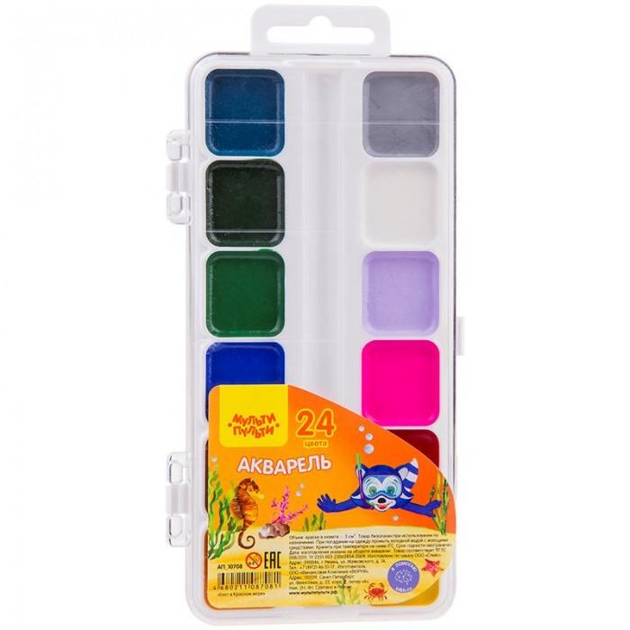 Краски Мульти-пульти Акварель медовая Енот в Красном море 24 цвета