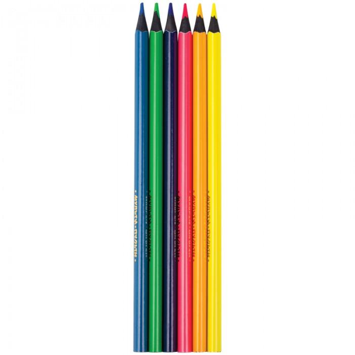 Карандаши, восковые мелки, пастель Мульти-пульти Карандаши Енот на лужайке 6 цветов карандаши восковые мелки пастель мульти пульти карандаши цветные трехгранные енот в испании 12 цветов