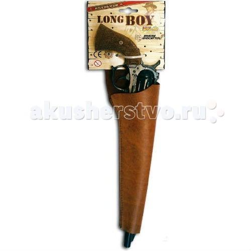 Игрушечное оружие Edison Игрушечный Пистолет Long Boy Western 39 см пистолет edison giocattoli dakota metall western