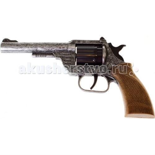 Игрушечное оружие Edison Игрушечный Пистолет Дакота/Dakota Metall Western 19,8 см пистолет edison giocattoli dakota metall western