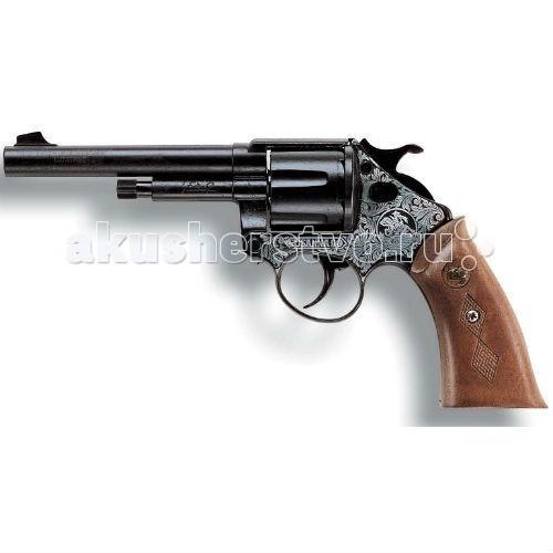 Edison Игрушечный Пистолет Сусанна 22,5 смИгрушечный Пистолет Сусанна 22,5 смEdison Игрушечный Пистолет Сусанна 22,5 см - это игровой пистонный револьвер, для которого нужны 12-зарядные пистоны. Благодаря такому игрушечному пистолету от Edison Giocattoli во время детской игры в войну будут слышны настоящие хлопки от выстрелов. При этом игра останется абсолютно безопасной для детей.  Edison Giocattoli - итальянская компания, выпускающая качественные и долговечные игрушки.  Игрушка изготовлена из безопасных и нетоксичных материалов, не наносящих вред здоровью детей.  Изучите особые меры предосторожности при использовании игрушки до её эксплуатации.  Ёмкость магазина: 12 пистонов.  Длина пистолета: 22,5 см<br>