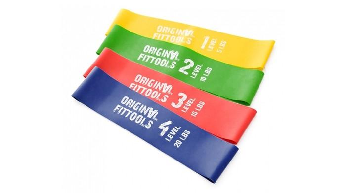 Эспандеры Original FitTools Набор мини-эспандеров эспандеры original fittools эспандер восьмерка сильное сопротивление 9 кг