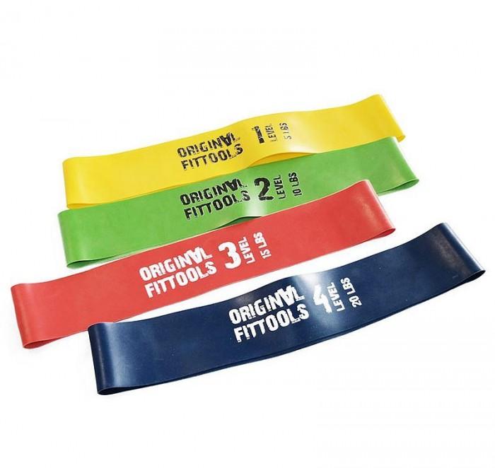 Спортивный инвентарь Original FitTools Набор мини-эспандеров длина по окружности 610 мм спортивный инвентарь original fittools набор мини эспандеров 10 lbs 5 шт