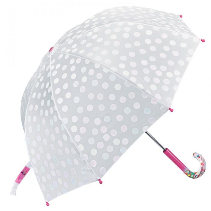 Детский зонтик Spiegelburg Prinzessin Lillifee 11394Детские зонтики<br>Детский зонт Spiegelburg Prinzessin Lillifee 11394 даже в самую пасмурную погоду обязательно порадует Вашу принцессу.   Печатный рисунок в виде цветных горошин проявляется на внешней стороне купола, когда на него попадает вода. С красивой прозрачной ручкой из пластика. Имеет специальный чехол для более удобного хранения.  Размер: 62 х 70 см