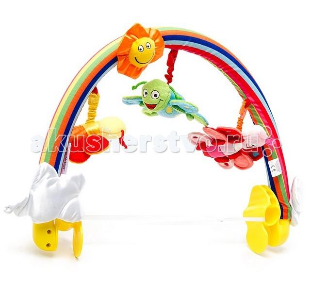 Дуги для колясок и автокресел WeeWise Дуга с игрушками Бабочки 20111 weewise развивающая музыкальная дуга джунгли