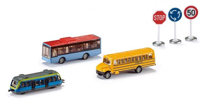 Машины Siku Набор транспорта и дорожных знаков экономичность и энергоемкость городского транспорта