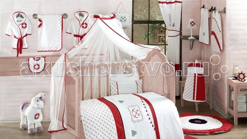 Балдахин для кроватки Kidboo Red OceanRed OceanБалдахин Kidboo Red Ocean украсит кроватку Вашего малыша, защитит его от укусов комаров и других насекомых, а также уменьшит попадание света для крепкого и здорового сна.  Подходит для всех стандартных держателей балдахина.  Размер 450х150 см.<br>