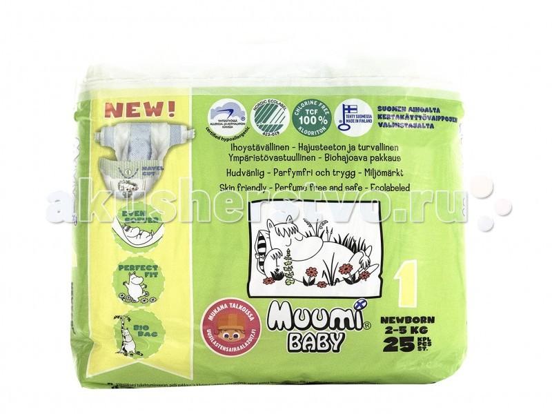 Подгузники Muumi Подгузники Baby (2-5 кг) 25 шт. шампунь xz muumi 2 в 1 розовый 250мл детский