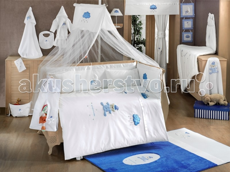 Постельные принадлежности , Балдахины для кроваток Kidboo Teddy Boo Blue арт: 57354 -  Балдахины для кроваток