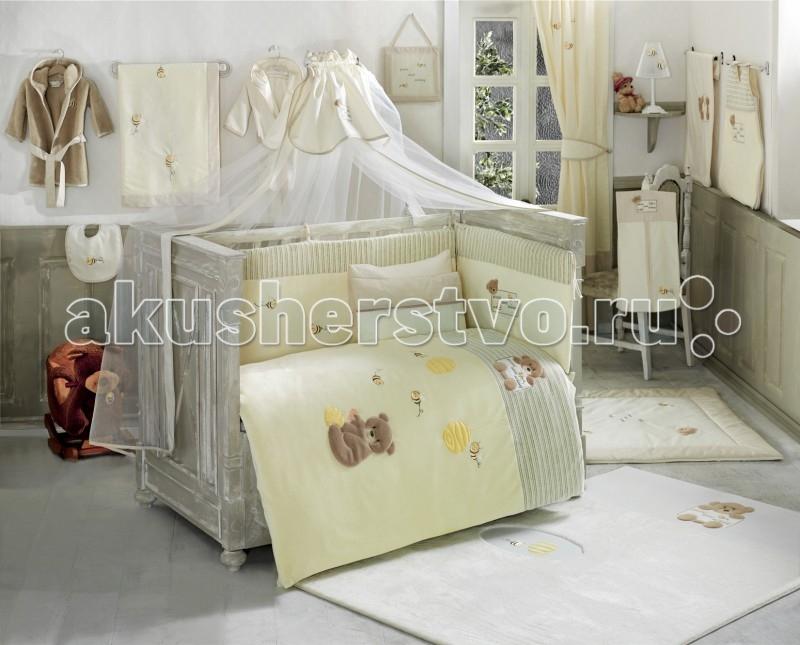 Комплект в кроватку Kidboo Honey Bear Soft (6 предметов)