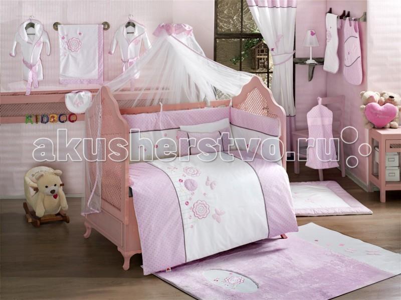 Постельные принадлежности , Комплекты в кроватку Kidboo Sweet Flowers (6 предметов) арт: 57373 -  Комплекты в кроватку