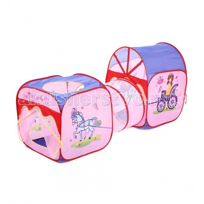 Bony Домик КаретаПалатки-домики<br>Bony Домик Карета предназначен для игр дома и на природе. Домик защитит от солнца и ветра во время игры на свежем воздухе. Каркас выполнен из пластика.  Палатка занимает мало места в сложенном виде и удобна в хранении и уходе.   Размер: 66х184х91 см