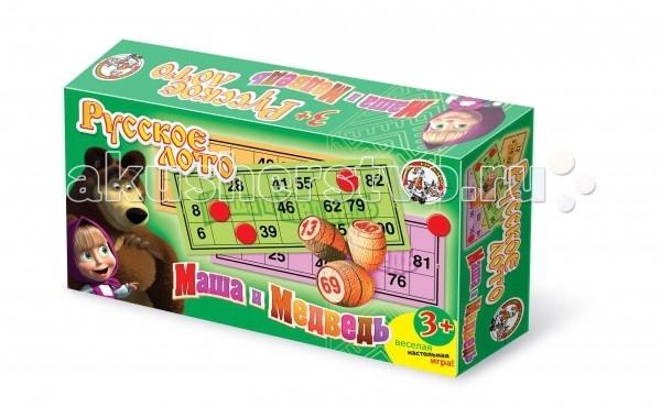 Игры для малышей Тридевятое царство Лото деревянное Маша и медведь настольные игры djeco игра лото дом