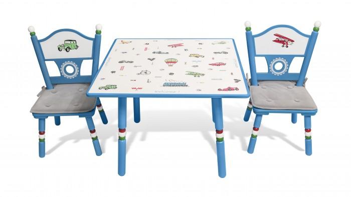 Major-Kids Комплект из стола и двух стульев Транспорт