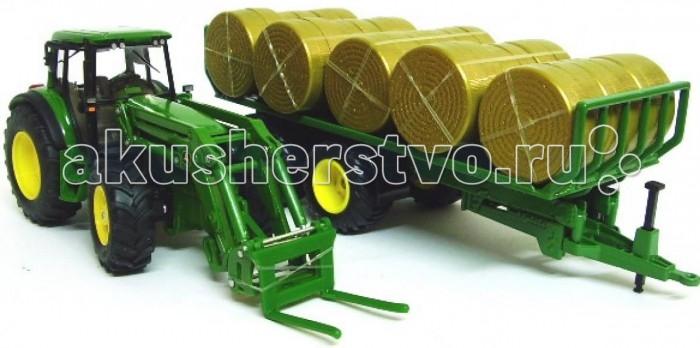 Машины Siku Набор Трактор с прицепом для круглых кип машинки tomy трактор john deere 6830 с двойными колесами и фронтальным погрузчиком
