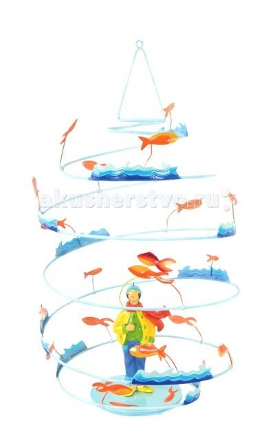 L'oiseau Bateau Spirale Подвесное украшение РыболовSpirale Подвесное украшение РыболовSpirale - уникальные подвесные украшения, созданные вручную французскими мастерами фабрики L'oiseau Вateau!   Легкие и воздушные, они привнесут особенный шарм в детскую, наполнят её атмосферой тепла и уюта. Прекрасно впишутся в дизайн любой комнаты, украсив и освежив его.  Подвесное украшение для детских комнат, сделано из металла (сталь)   Размеры: 32.5 см В х 32.5 см Д х 29 см Ш<br>