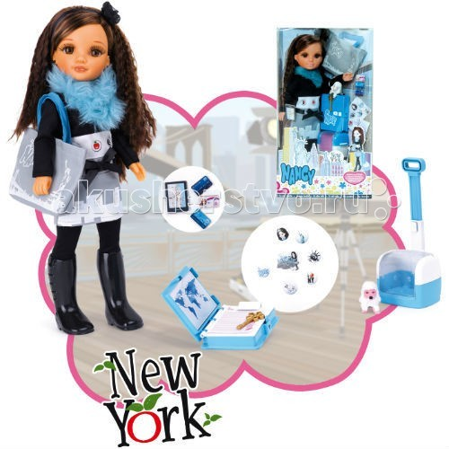 Куклы и одежда для кукол Famosa Нэнси Путешественница в Нью-Йорке, Куклы и одежда для кукол - артикул:57514